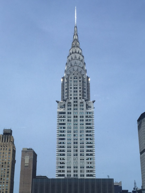 The Chrysler building, also from the 32nd floor.